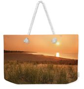 Lake Erie Sunset Weekender Tote Bag