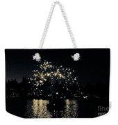Lake Fireworks Weekender Tote Bag