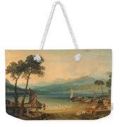 Lake Geneva And Mount Blanc Weekender Tote Bag