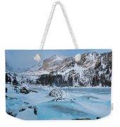 Lake Haiyaha Winter Weekender Tote Bag