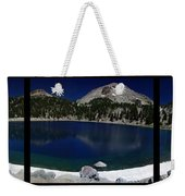 Lake Helen At Mt Lassen Triptych Weekender Tote Bag by Peter Piatt