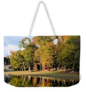 Lake House In Autumn Weekender Tote Bag