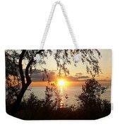 Lake Huron Setting Sun Weekender Tote Bag