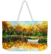 Lake Impression Weekender Tote Bag