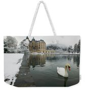 Lake In Front Of A Chateau, Chateau De Weekender Tote Bag