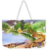Lake Killarney With Rock Wall Weekender Tote Bag