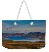Lake Laberge And Surrounding Taiga In Fall Weekender Tote Bag