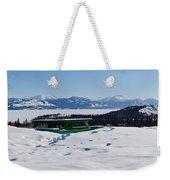 Lake Laberge Yukon Territory Canada In Winter Weekender Tote Bag