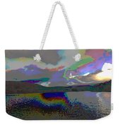 Lake Land And Sky Digitally Painted Photograph Taken Around Poconos  Welcome To The Pocono Mountains Weekender Tote Bag