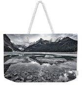 Lake Louise - Black And White #2 Weekender Tote Bag
