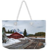 Lake Louise Depot Weekender Tote Bag