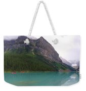 Panoramic Lake Louise, Alberta - Morning Reflections Weekender Tote Bag