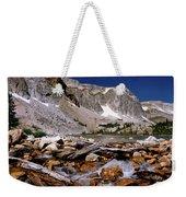 Lake Marie Snowy Range Weekender Tote Bag