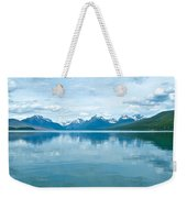 Lake Mcdonald Reflection In Glacier  National Park-montana Weekender Tote Bag