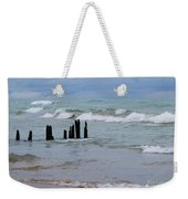 Lake Michigan Green Weekender Tote Bag