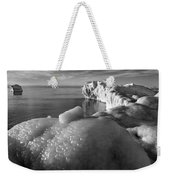 Lake Michigan Ice X Weekender Tote Bag