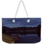 Lake Placid At Night Weekender Tote Bag