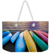 Lake Quinault Kayaks Weekender Tote Bag by Inge Johnsson