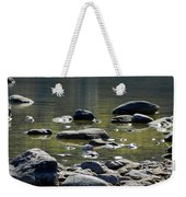 Lake Rocks Weekender Tote Bag