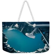 Lake Seen From A Seaplane Weekender Tote Bag