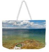 Lake Shore Geyser In West Thumb Geyser Basin Weekender Tote Bag