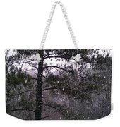 Lake Snowfall Weekender Tote Bag