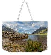 Lake Stone Wall Weekender Tote Bag