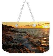 Lake Superior Dawn Weekender Tote Bag