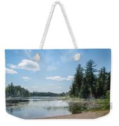 Up North - Lake Superior Misty Beach Weekender Tote Bag