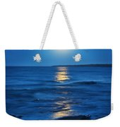 Lake Superior Moonrise Weekender Tote Bag