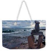 Show Me The Way - Lake Superior Rock Stack Weekender Tote Bag