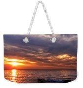 Lake Superior Sunset Panorama Weekender Tote Bag