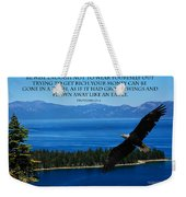 Lake Tahoe Eagle Proverbs Weekender Tote Bag