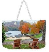 Lake Toxaway Marina In The Fall Weekender Tote Bag