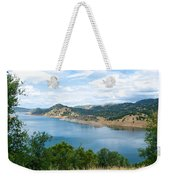 Lake View From Hwy 120 Rest Area Going Into Yosemite Np-ca- 2013 Weekender Tote Bag
