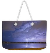 Lake View Lightning Thunderstorm Weekender Tote Bag