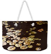 Lake Washington Lily Pad 10 Weekender Tote Bag