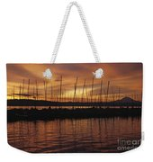Lake Washington With Mount Rainier And Marina Weekender Tote Bag
