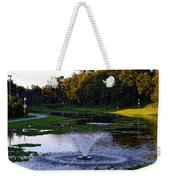 Lake With Fountain Weekender Tote Bag