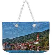 Lakefront Provincial Town Weekender Tote Bag