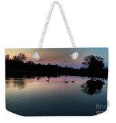 Lakeside Sunset Reflections Weekender Tote Bag