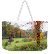 Lamance Valley In The Fall Weekender Tote Bag