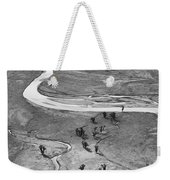 Lamar Valley Black And White Weekender Tote Bag