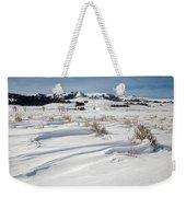 Lamar Valley Winter Scenic Weekender Tote Bag