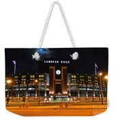 Lambeau Field At Night Weekender Tote Bag by Tommy Anderson
