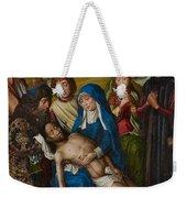 Lamentation With Saint John The Baptist And Saint Catherine Of Alexandria Weekender Tote Bag