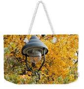 Lamp In The Autumn Leaves Weekender Tote Bag