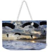 Landing At Sunset Weekender Tote Bag