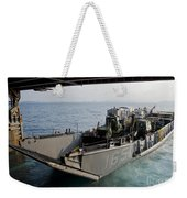 Landing Craft Utility Departs The Well Weekender Tote Bag