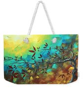 Landscape Bird Original Painting Family Time By Madart Weekender Tote Bag